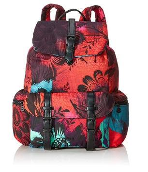 Desigual BACKPACK SINERGIA_TRIBECA, Mochila moderna. para Mujer, Negro/multicolor