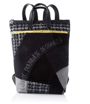 Desigual Backpack LIBERTÉ Patch BAZA 1, Mochila moderna. para Mujer