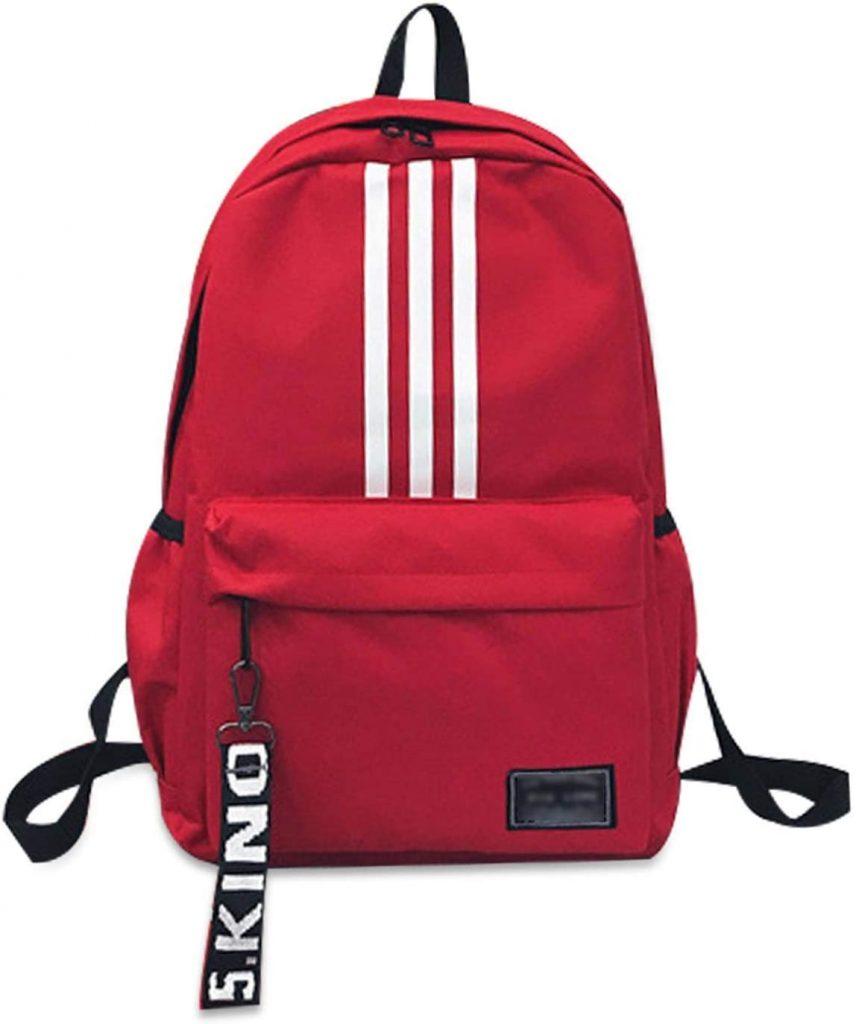 FANDARE Unisexo Mochila Bolsa de Escuela HombresMujeres School Bag Adolescente Mochila niña Viaje Mochilas Camping Daypack rojo