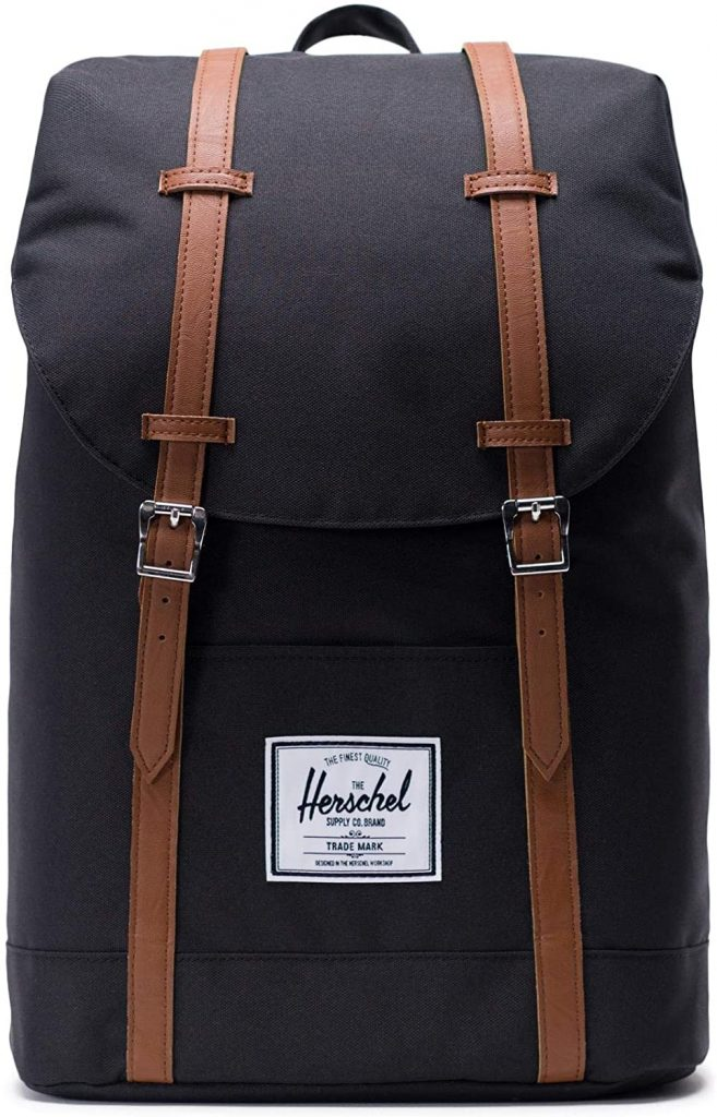 Herschel Retreat Backpack - Mochila casual unisex, Negro (Black), Talla única