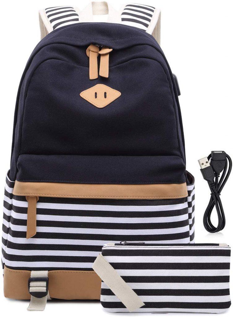 Mochila Escolares Mujer Mochila de Lona Casual Backpack Laptop Mochila