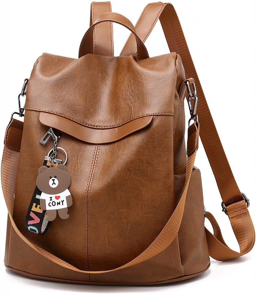 Mochila de las mujeres antirrobo impermeable mochila casual monedero