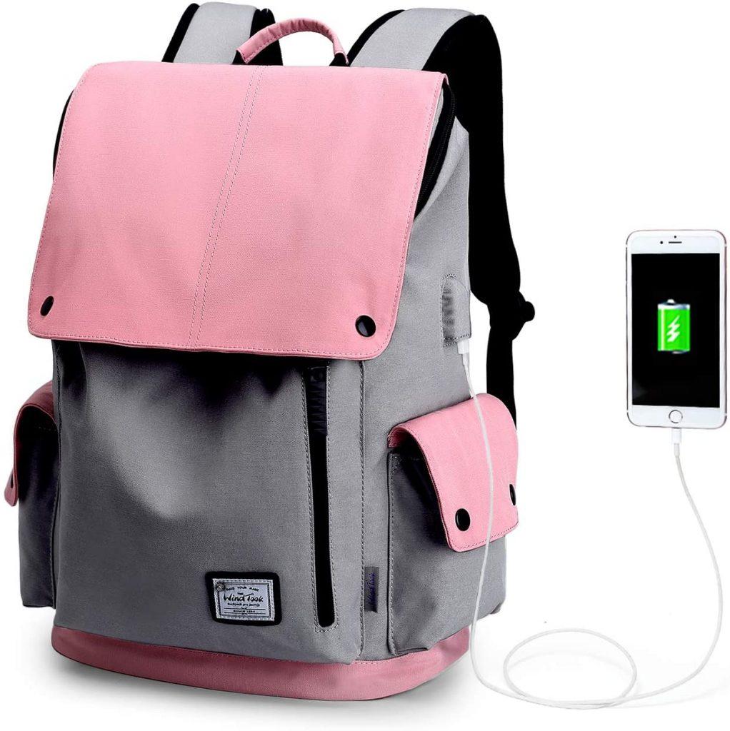 Wind Took Mochila portatil Mujer Impermeable para Escolares de 15.6 Pulgadas Mochila para Ordenador